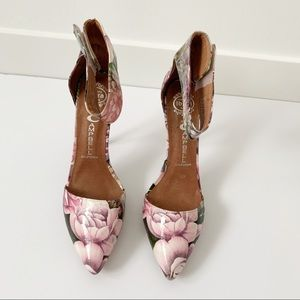 Jeffrey Campbell floral high heel shoes